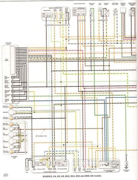 2000 Sv650 Wiring Diagram | Diagram, Suzuki, Suzuki motorcycle
