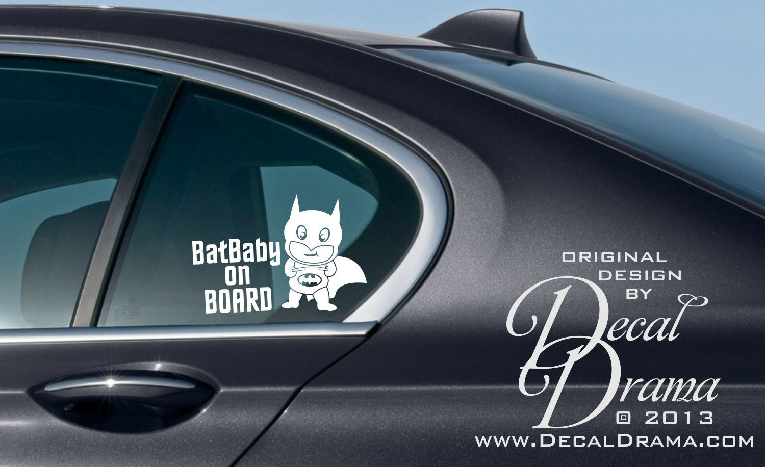 Batbaby On Board Small With Baby Batman Graphic Vinyl Car Decal From Decal Drama Car Decals Vinyl Car Decals Vinyl