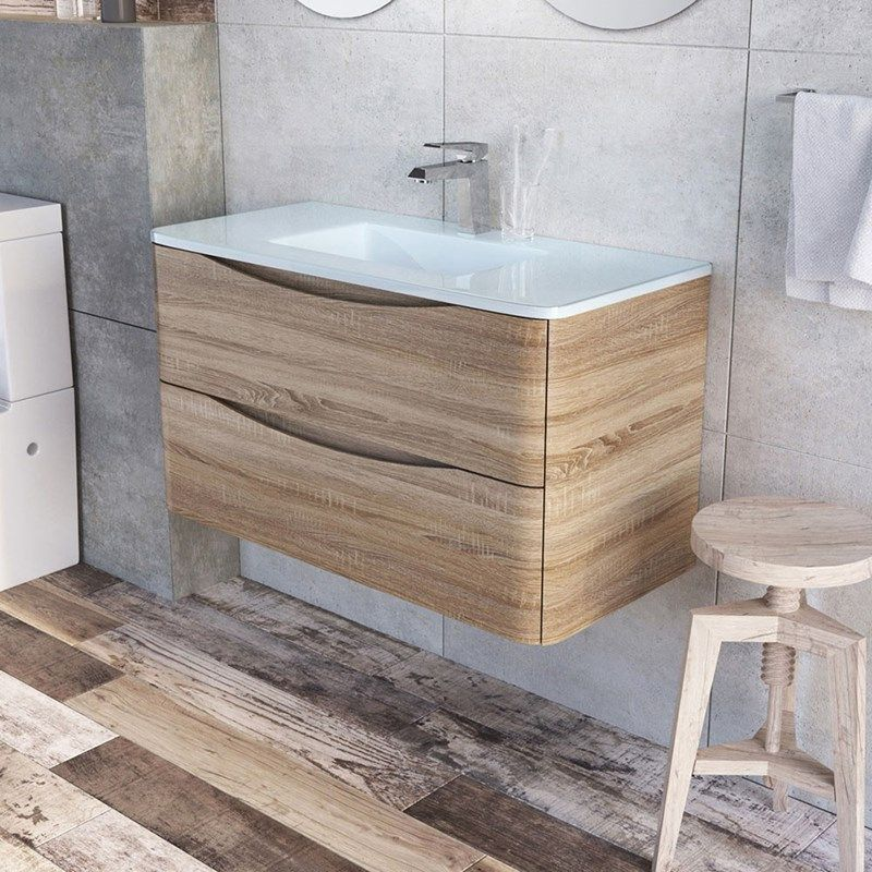 Harbour clarity 900mm wall mounted light oak vanity unit with white harbour clarity 900mm wall mounted light oak vanity unit with white resin basin aloadofball Image collections