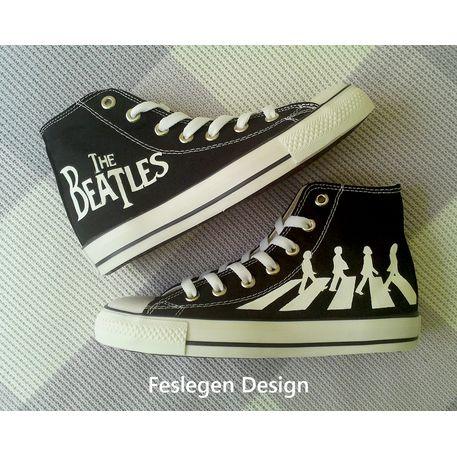 The Beatles Custom Painted Converse