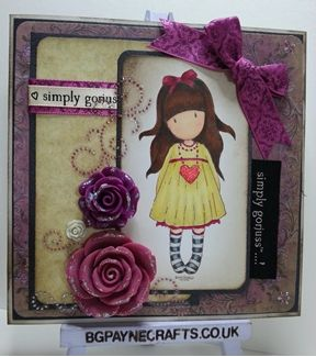 Free Gorjuss Santoto Vintage Rose Card Making Project