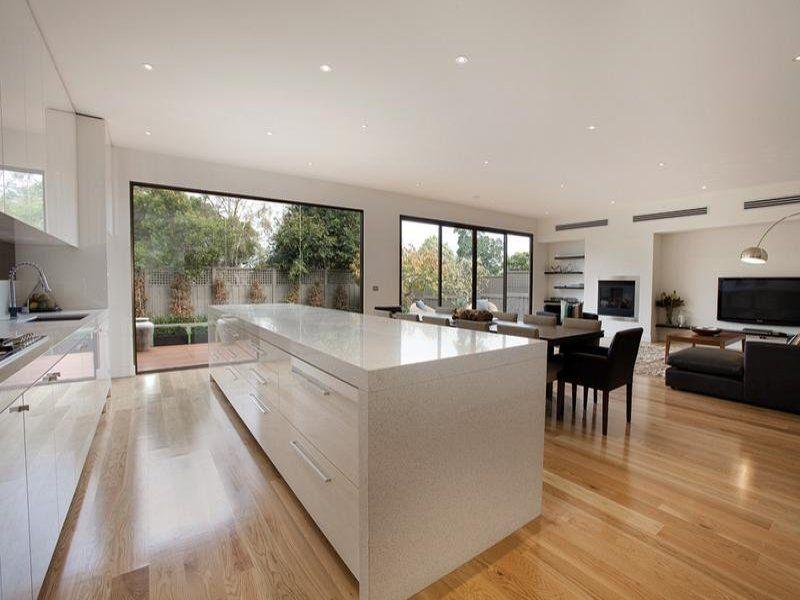 We Could Achieve A Similar Orientation Ie Kitchen Butting Up Beauteous New Modern Kitchen Design Inspiration Design