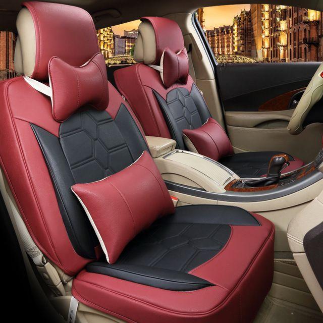 nouvelle housse de si ge de voiture style top en cuir voiture coussin couvre pour bmw audi. Black Bedroom Furniture Sets. Home Design Ideas