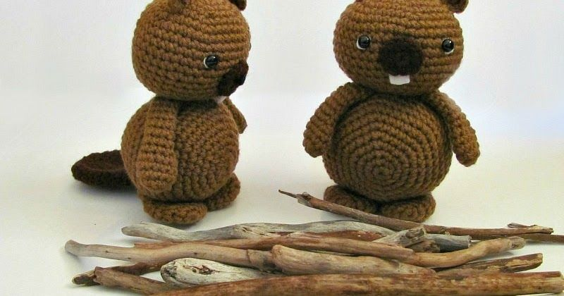 Make this super cute and easy amigurumi Beaver yourself with this ...