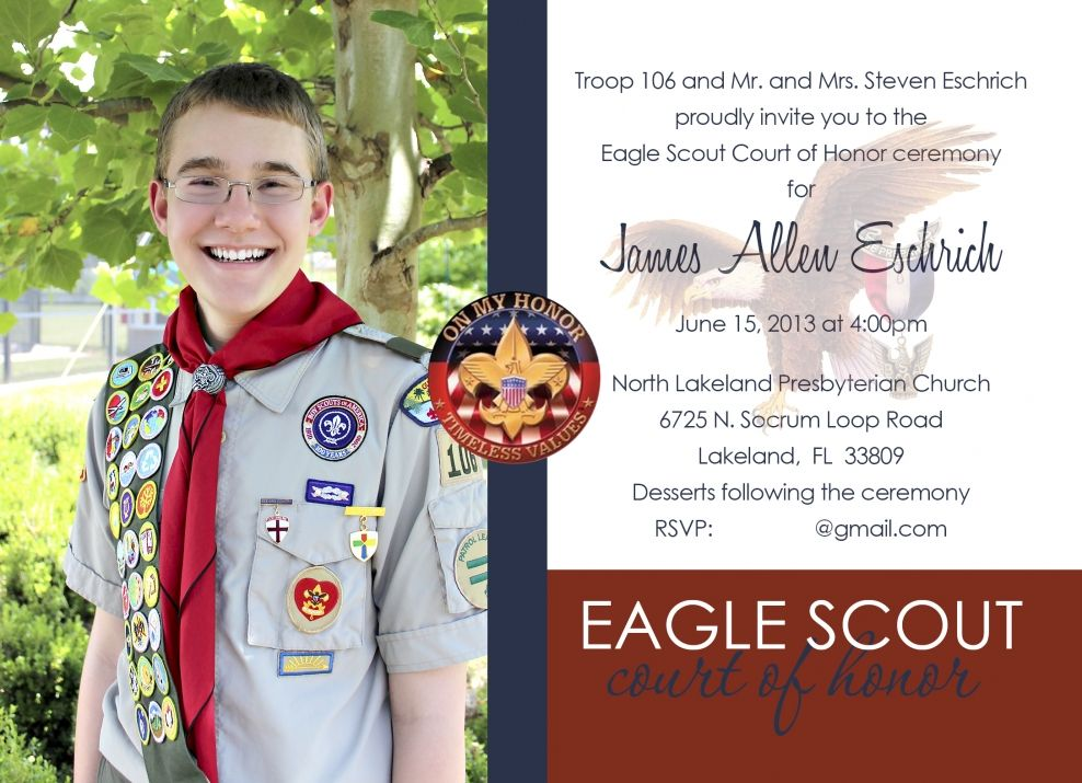 17 Best images about Apps – Eagle Scout Invitation Cards