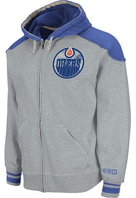 on sale 3d153 064fe CCM Edmonton Oilers Classic Full Zip Hooded Sweatshirt ...