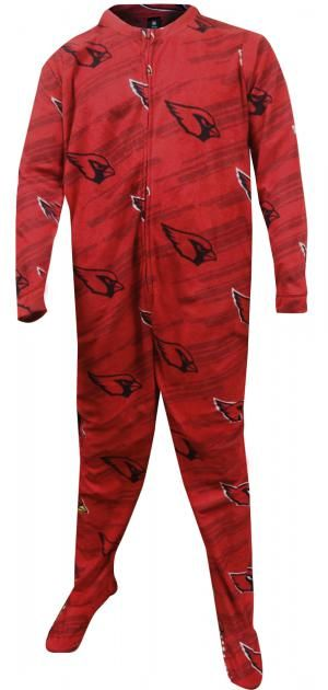5a8de4cb Arizona Cardinals One Piece Footie Pajama | Adult Footie Pajamas ...