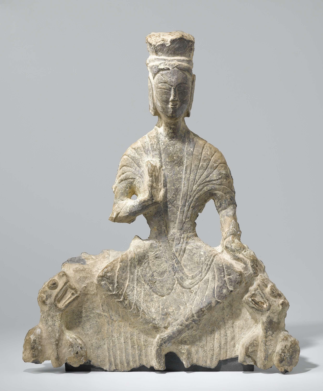 bodhisattva Maitreya, 500-25 CE. limestone. Rock cut Longmen Caves