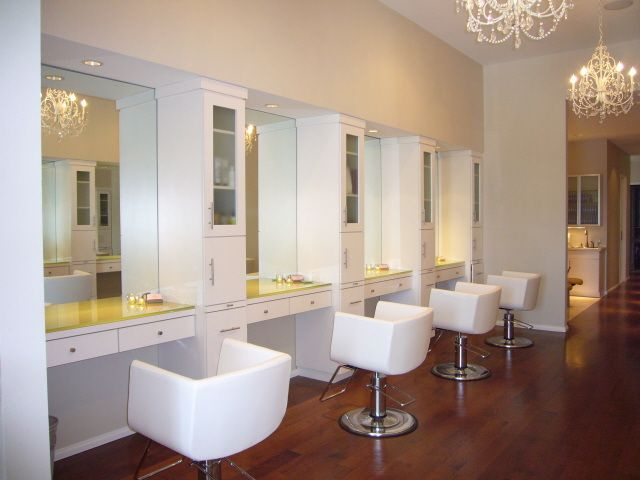 I Like The Simplicity Of The Design With The Detailed Elegance Of The Lighting Salon Interior Salon Design Interior