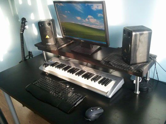 cheap diy ikea home studio desk house updates home. Black Bedroom Furniture Sets. Home Design Ideas