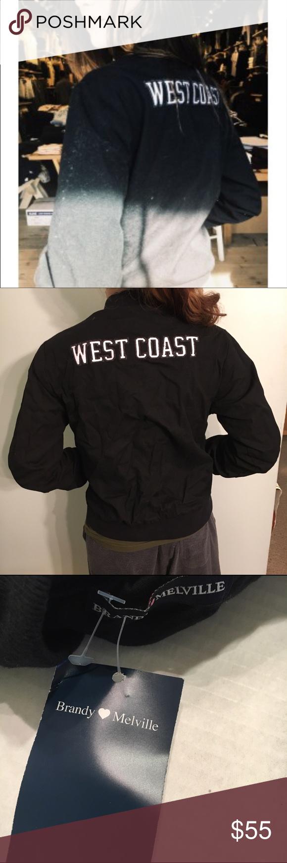 Brandy Melville West Coast Bomber Jacket BNWT Brandy Melville West Coast Bomber Jacket. Super Stylish. Never Worn Brandy Melville Jackets & Coats Utility Jackets
