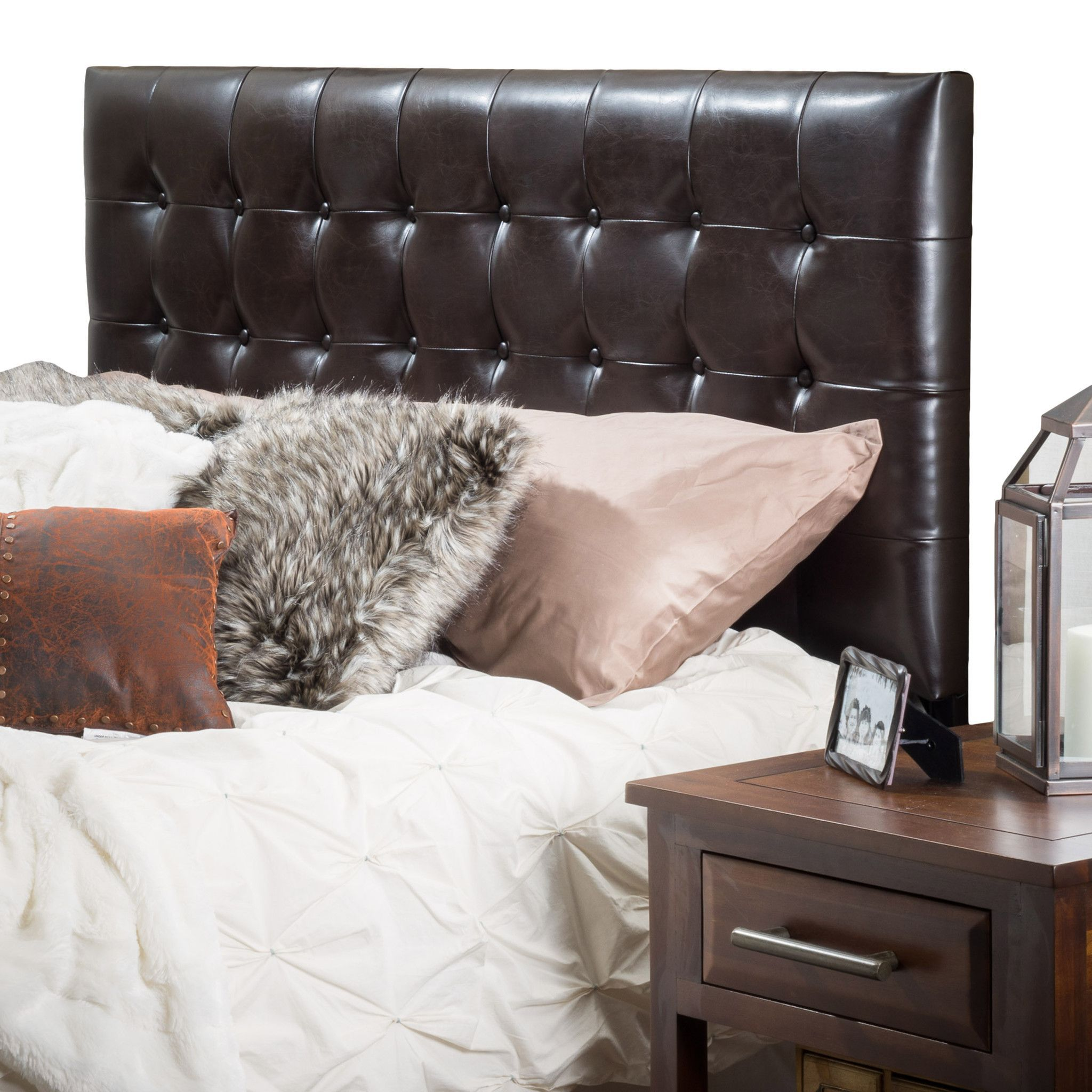 Austin Home Lucca Tufted Bonded Leather King/Cal King Headboard