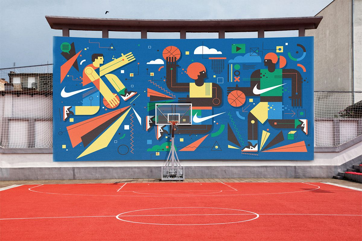 Nike basketball wall mural concept art by neil stevens nike nike basketball wall mural concept art by neil stevens nike illustration design amipublicfo Choice Image