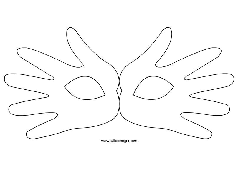 Maschera Di Carnevale Con Sagome Mani Carnevale Idee Carnevale
