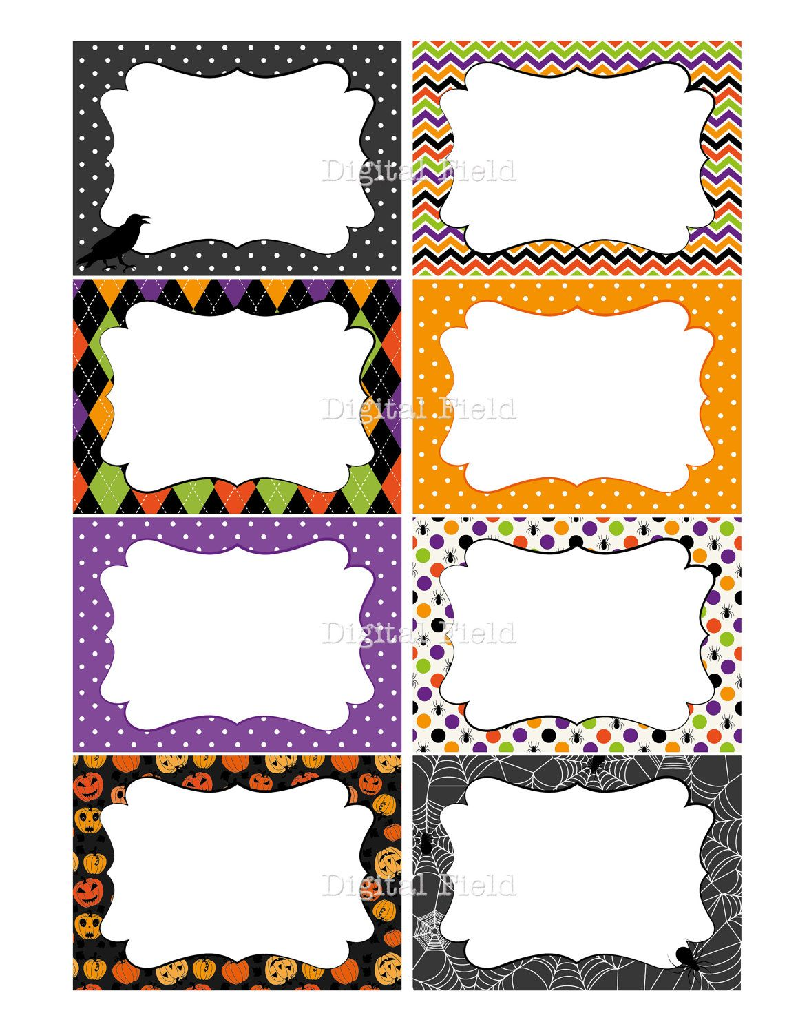 Halloween Printable Labels, Cards or Tags for journaling, gifts ...