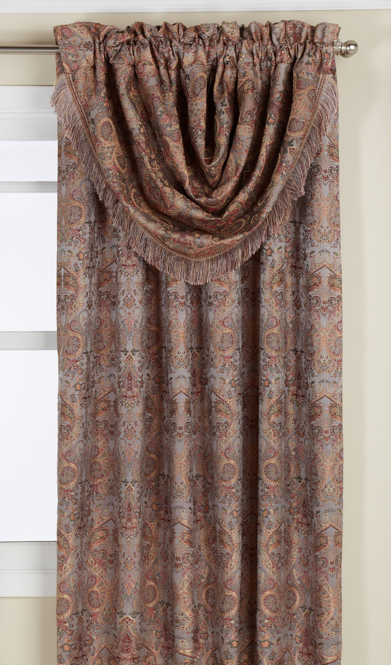 Lorraine Home Fashions Hermitage Window Curtain Panel 54 By 84Inch