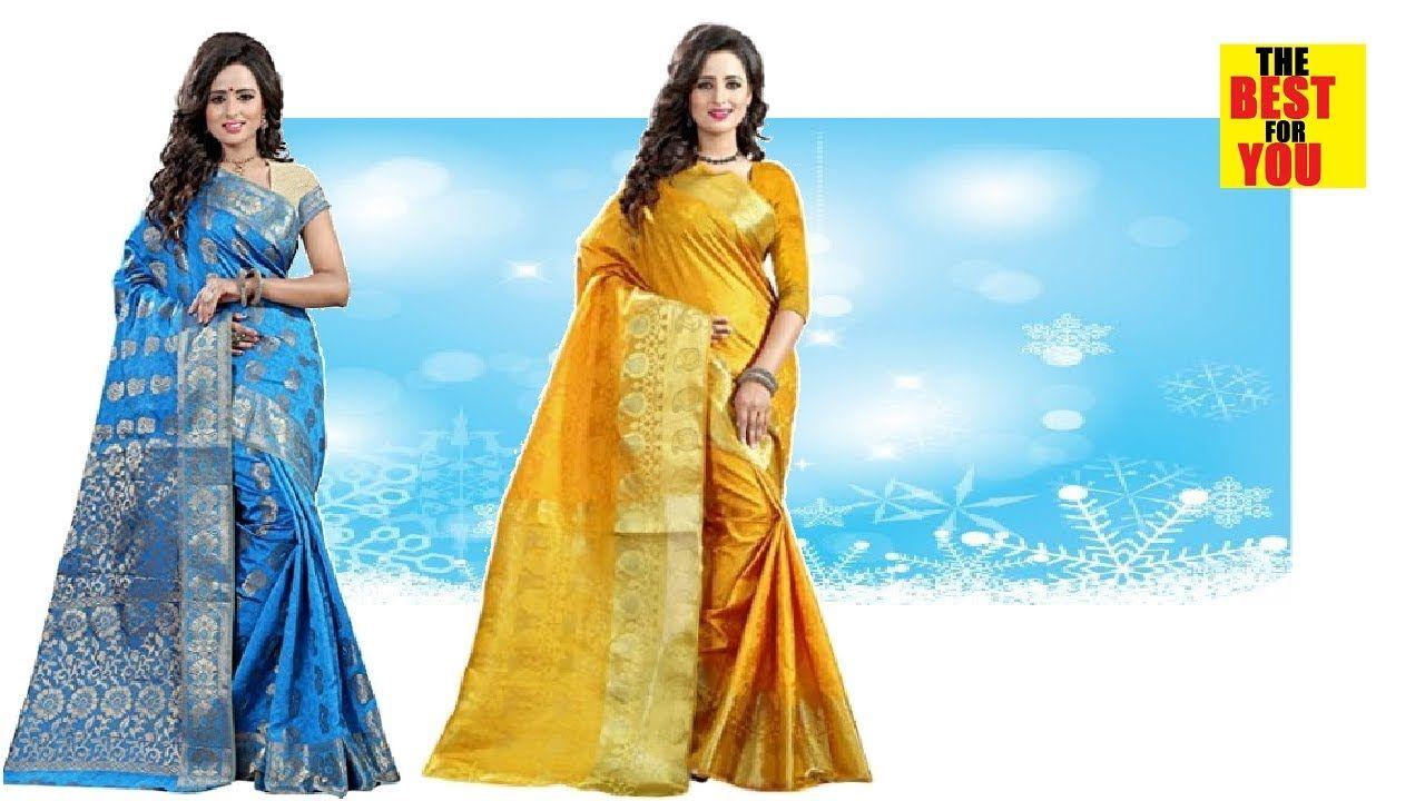 12917b3f60b Indian and Pakistani Sari Sarees Design Collection amazon shopping online  dresses Sarees