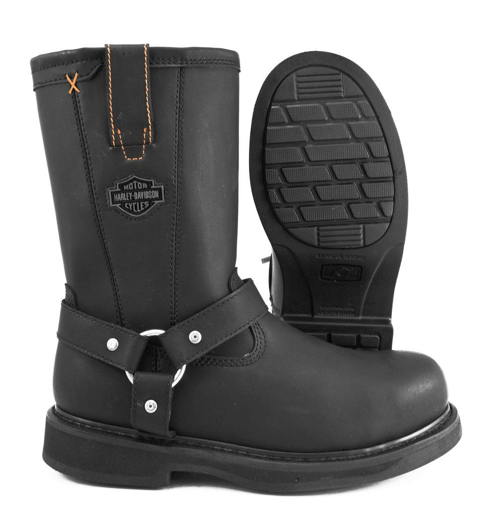 Harley-Davidson Bill Steel Toe Side Zipper Harness Motorcycle Boot ...