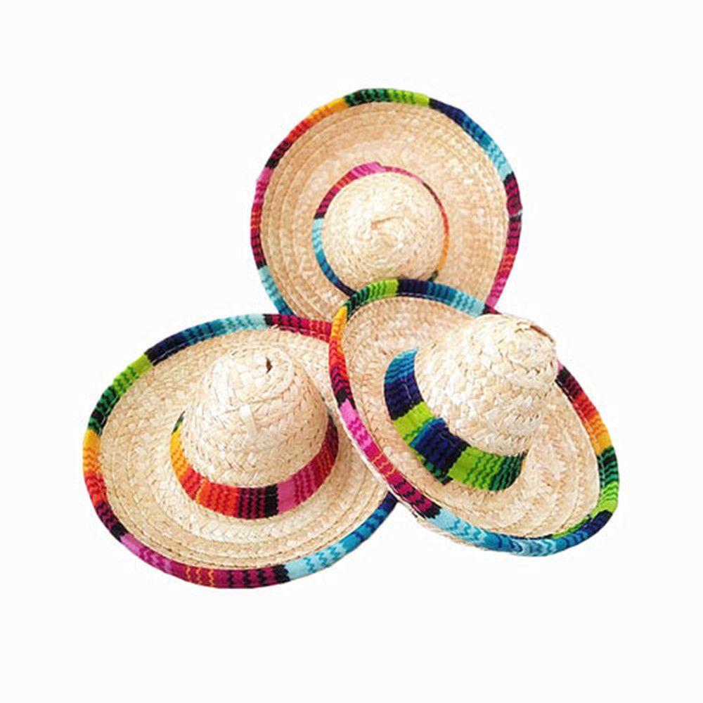 6x mini tabletop sombreros mexican hats mexican party supplies