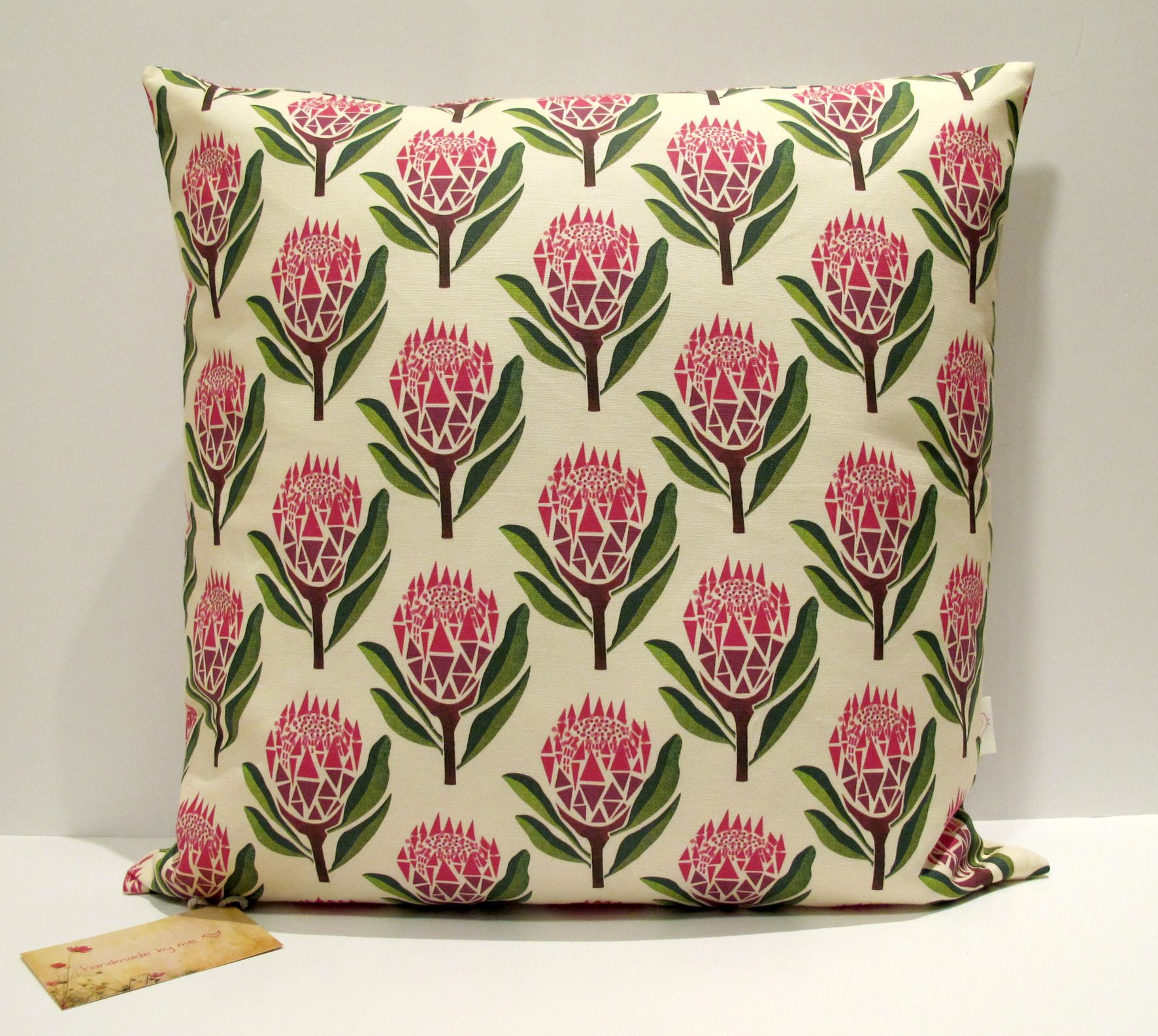 Pretty Proteas Cushion Cover  www.handmadebymeblog.com