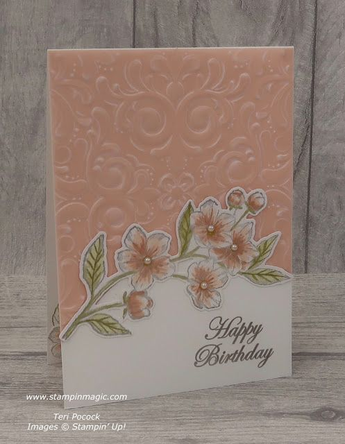 Stampin' Up! UK Demonstrator - Teri Pocock: Forever Blossoms - Birthday Card - Video Tutorial