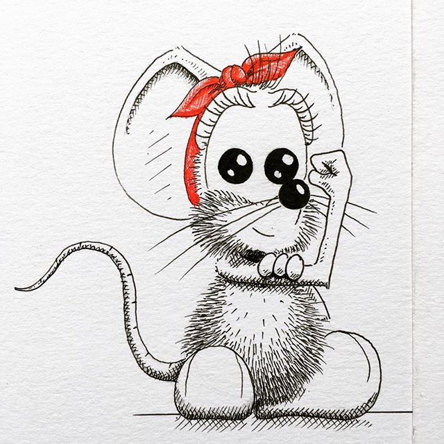 Рисунки с мышами прикольные