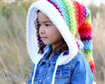Crochet pattern bohemian nights hoodie chunky crochet pixie crochet pattern bohemian nights hoodie chunky crochet pixie hood pattern boho fairy hood child adult sizes instant pdf download fandeluxe Choice Image