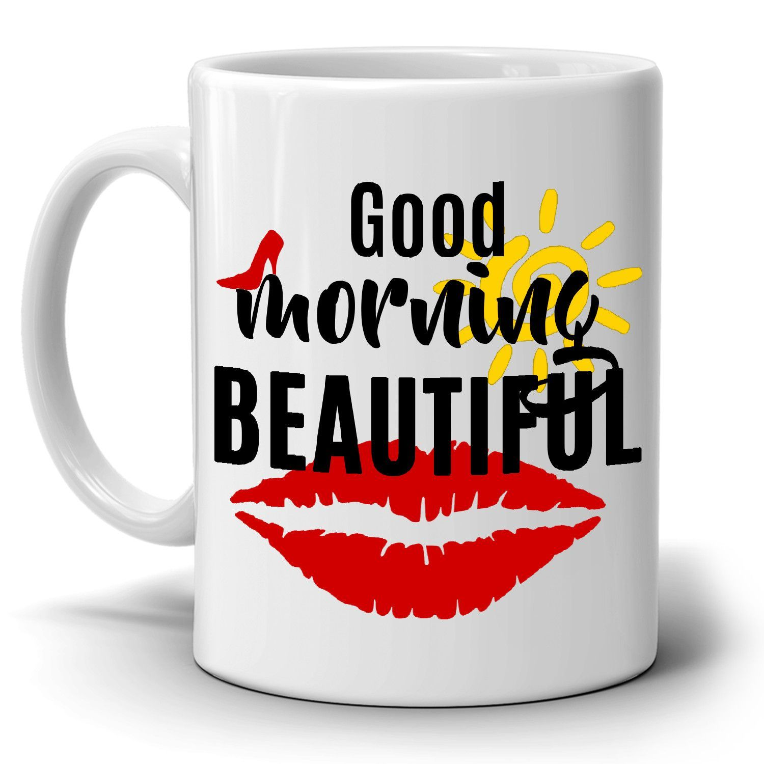 Good Morning Handsome 11oz Mug Gift Box Wife Husband Gift Valentines Birthday
