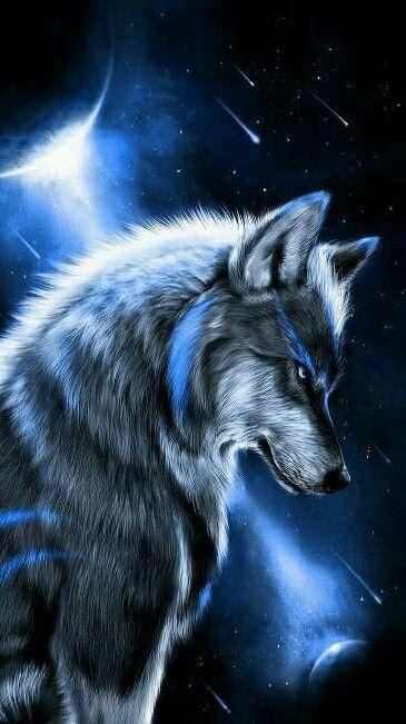 Blue Wolf Wolf Wallpaper Wolf Painting Animals