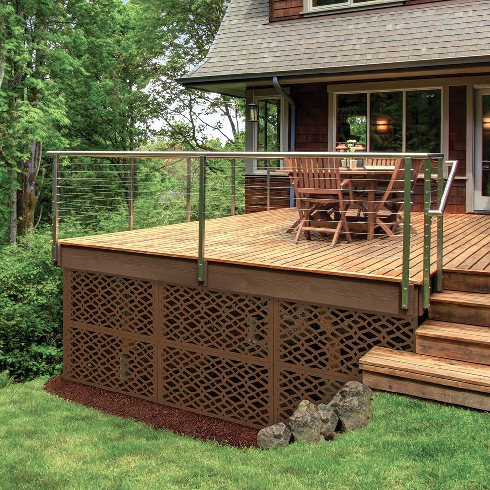 Allure Decorative Sheeting Deck Skirting Freedom Outdoor Living For Lowes In 2020 Building A Deck Decorative Screen Panels Deck Skirting