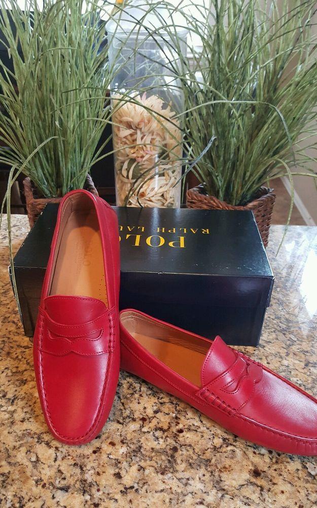 Polo Ralph Lauren Landan Red Leather