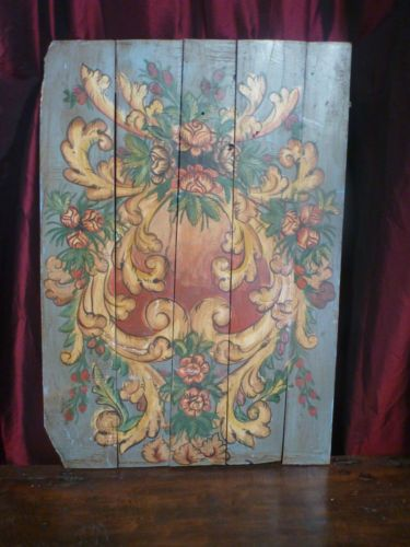Balinese Hand Made Wooden Floral Panel Abstract Wall Art Vintage ...