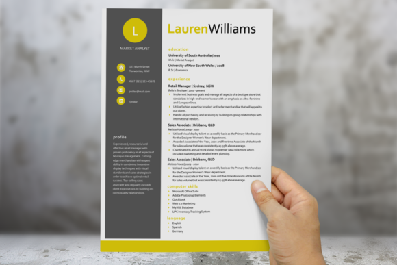 Check Out Citrus Modern Resume Template By Inkpower On Creative