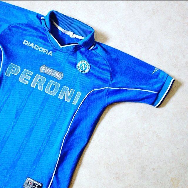 bd3599360 New in  vintage diadora napoli home shirt 2000 01 sponsored by peroni.