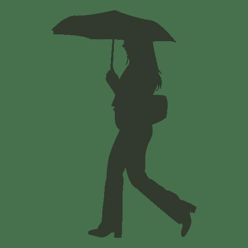 Woman Walking In Rain With Umbrella Silhouette Ad Affiliate Sponsored Walking Silhouette Umbrella Woman Silhouette Silhouette Png Umbrella