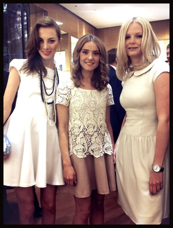 9b046aaf7b Girls from www.makelifeeasier.com at opening Louis Vuitton store in Warsaw!  Gosia (right hand side) wearing Taranko dress ) we like it!