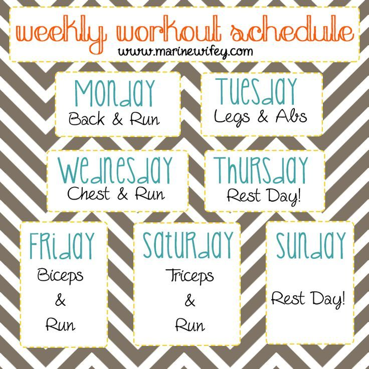 Fit Wifey  Building A Workout Schedule  The Life And Times Of A