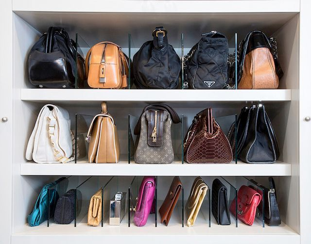 Perfect LA Closet Design   Closets   How To Store Bags, How To Store Handbags,  Handbag Partitions, Acrylic Partitions, Handbag Storage.