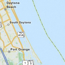 Map Of Daytona Beach Fl Florida Hotels Restaurants Airports Mapquest