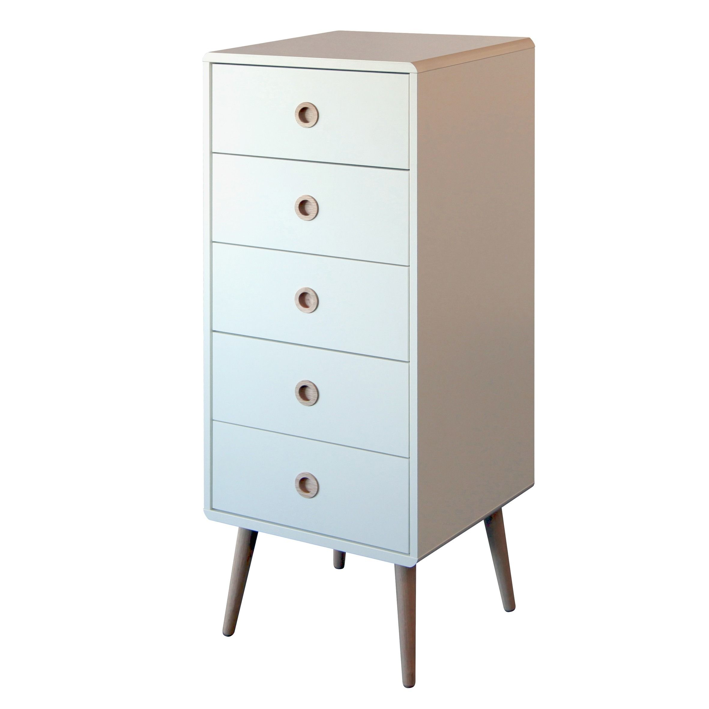 Best Steens Soft Line Tall Narrow Retro Style 5 Drawer Chest Of 400 x 300
