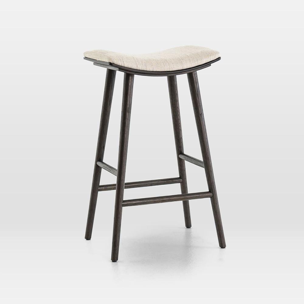 Oak Wood Upholstered Saddle Bar