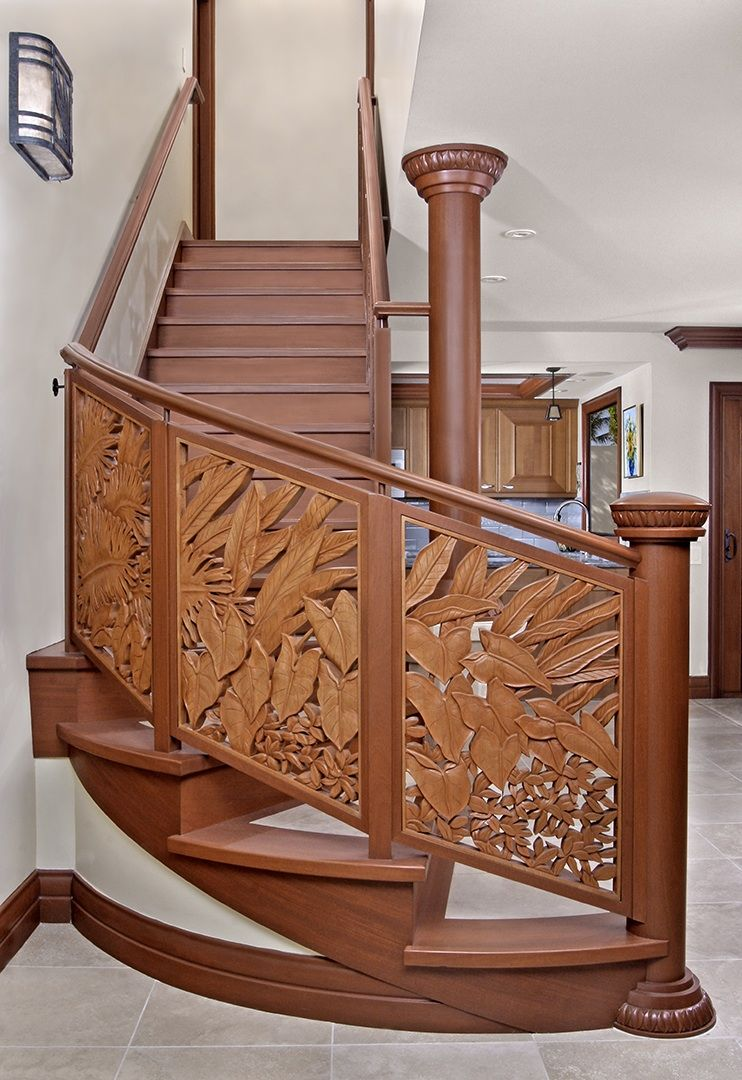 Best Ornate Carved Wood Staircase Very Pretty Carved Leaves 400 x 300