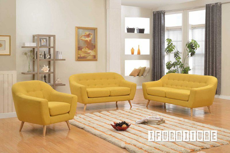 BRCKE BRACKE Sofa In Yellow Color Ottoman NZs