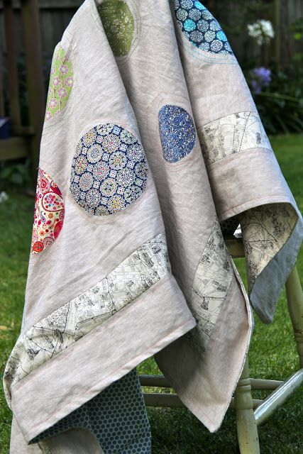 Aurifil Designer Challenge by Siobhan. Love love this quilt and the idea of a bag quilt for a lightweight throw or summer bedspread without the weight.