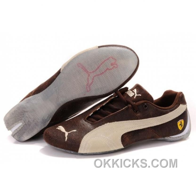 Mens Puma Ferrari In BrownBeige Lastest