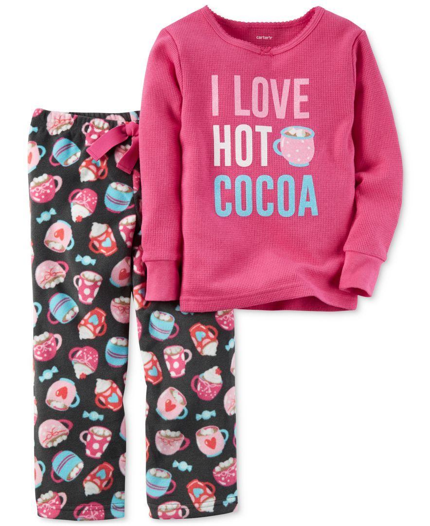 dbb87c98b Carter s 2-Pc. Hot Cocoa Pajama Set