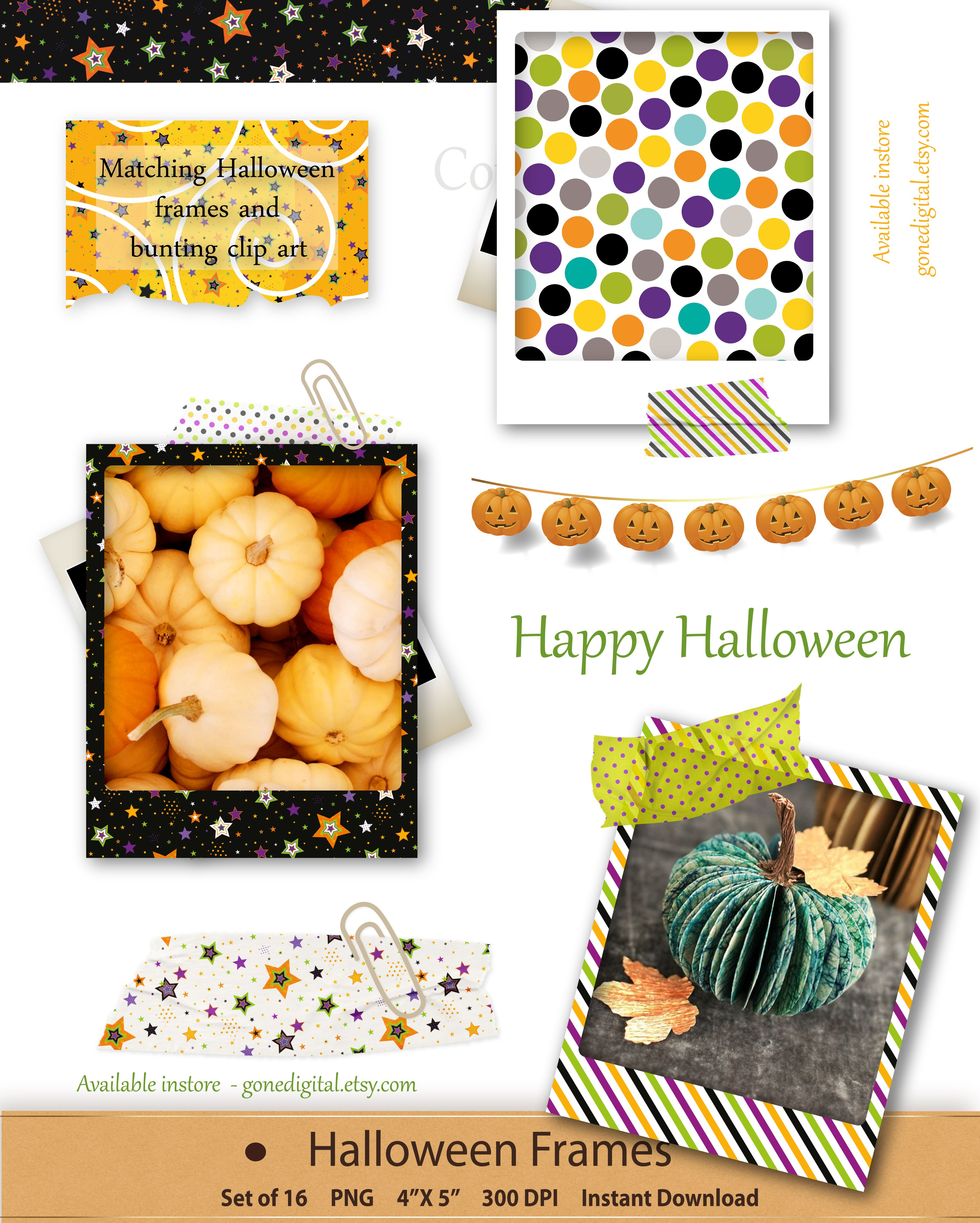 Halloween frames picture frame clip art halloween photo frame halloween frames picture frame clip art halloween photo frame printable instant download digital scrapbooking card making crafting clipart jeuxipadfo Image collections