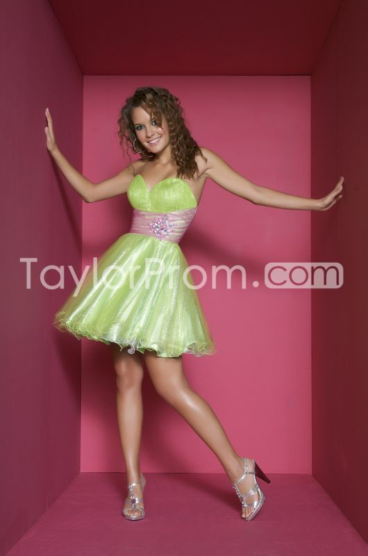 Dramatic Mini/Short Organza Empire Sweetheart Sleeveless Backless Homecoming/Cocktail Dresses
