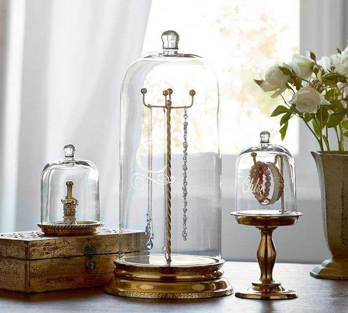 Glass Cloche Jewelry Storage Jewellery Storage Glass