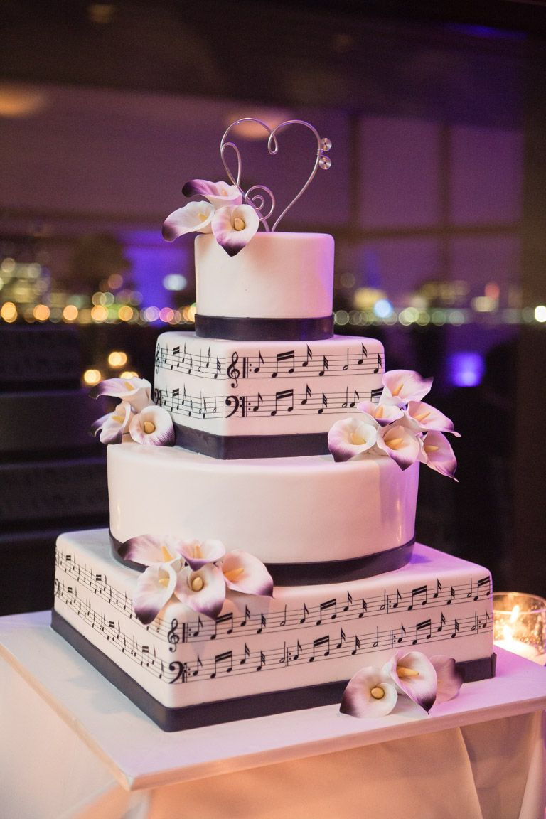 Music Themed Wedding Cake My Wedding Wedding Cakes Pinterest